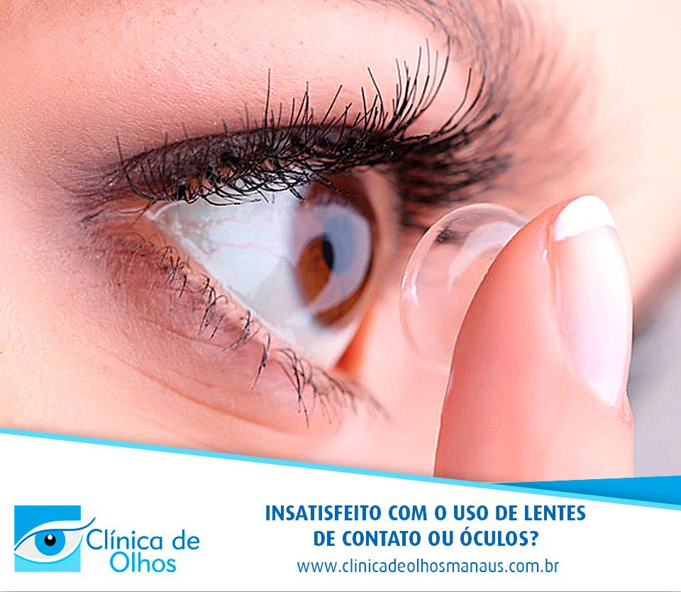 3595183ce5532 Insatisfeito com o uso de lentes de contato ou óculos  - Clínica de ...