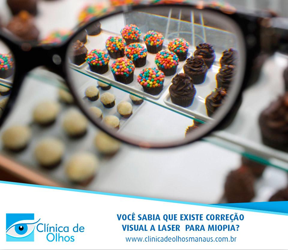 Correção visual a laser personalizada para miopia